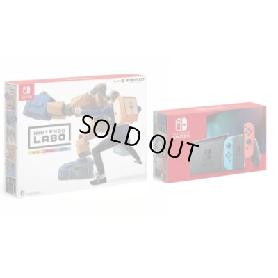 画像1: Nintendo Switch Joy-Con (L) ネオンブルー/ (R) ネオンレッド+Nintendo Labo Toy-Con 02: Robot Kit【新品】